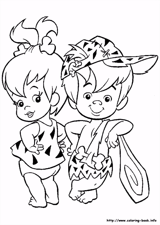 The Flintstones coloring picture Coloring for kid。