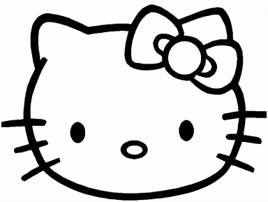 Klik hier om de Hello kitty kleurplaat te en