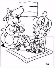 Keningsdei Tomke kleurplaat Koningsdag Tomke kleurplaat