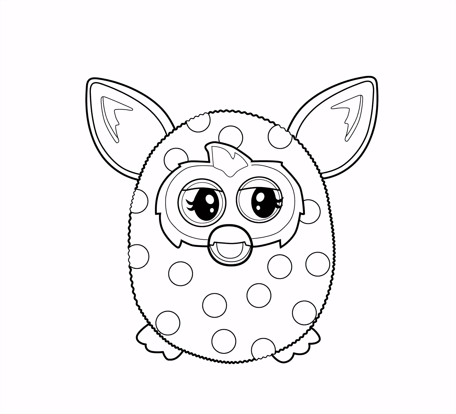 Furby coloring pages for kids printable free