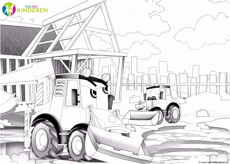 Kleurplaat Tractor Met Ploeg ARCHIDEV