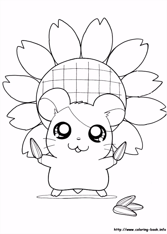Hamtaro coloring picture