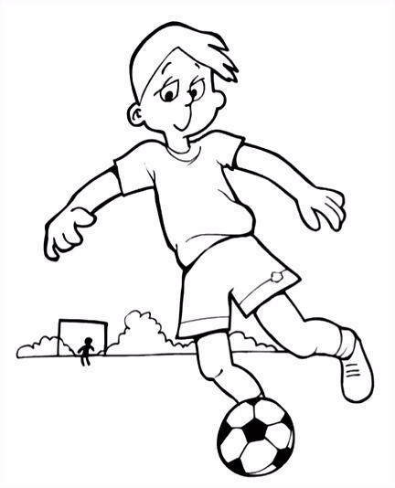 Voetballende Jongen Kleurplaat d Pinterest