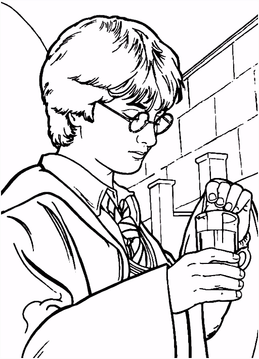 Harry Potter Bookmarks to Color