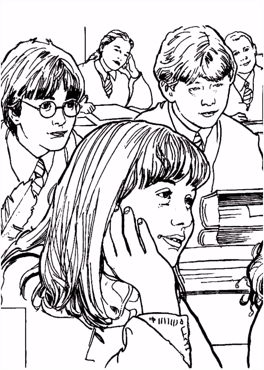 Harry Potter Coloring Pages 2781 Pics to Color