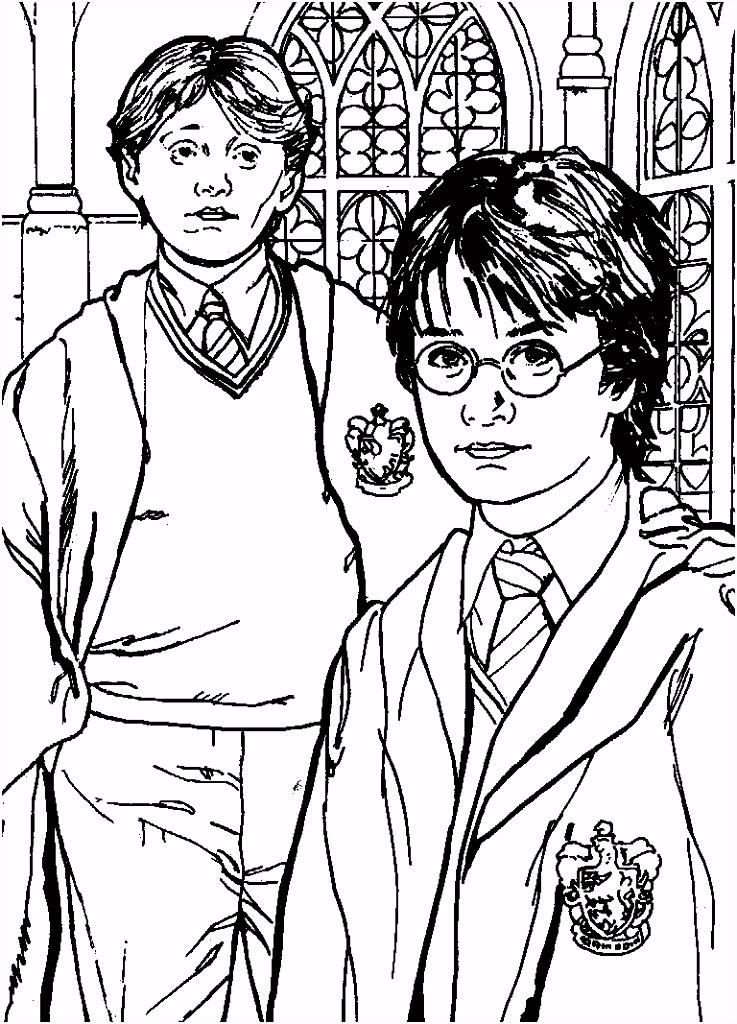 kleurplaten en zo Kleurplaat van Harry Potter en de Geheime kamer