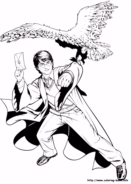 Harry Potter coloring page 06 Harry Potter Pinterest