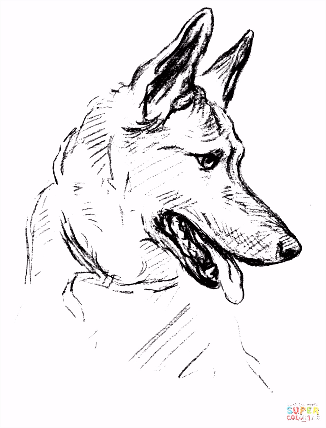 German Shepherd Dog Super Coloring dog patterns