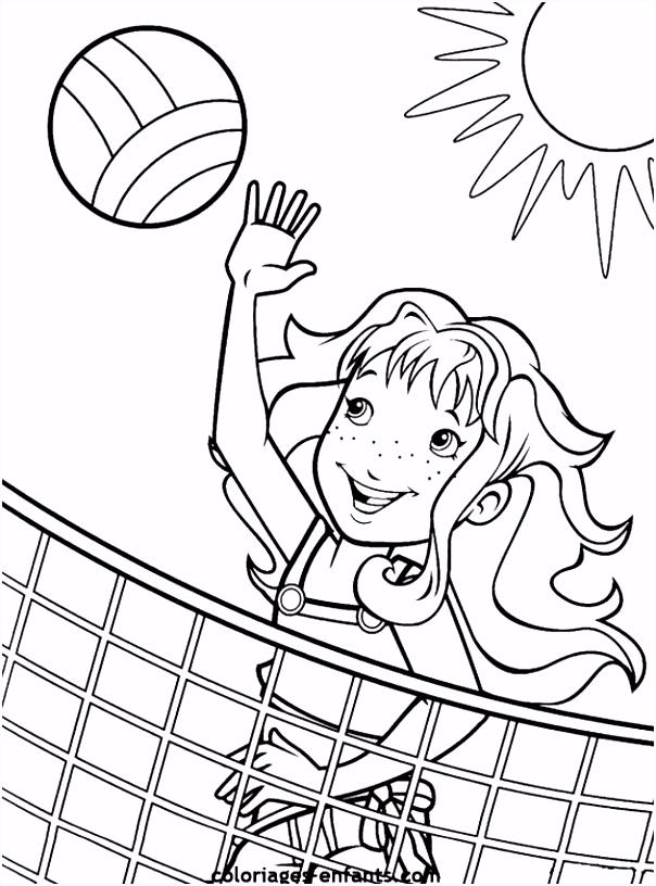 Les coloriages de volley sur coloriages enfants