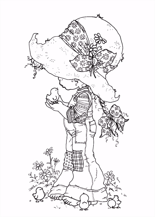 original holly hobbie coloring pages
