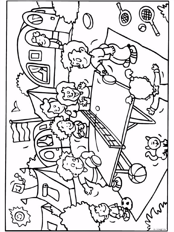 Kleurplaat Kindercamping Kleurplaten