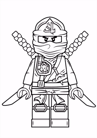 Lego Ninjago Groene Ninja kleurplaat