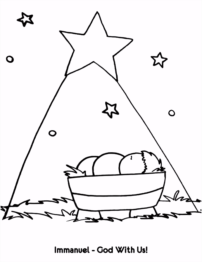 Immanuel God With Us Coloring Page … Sunday School