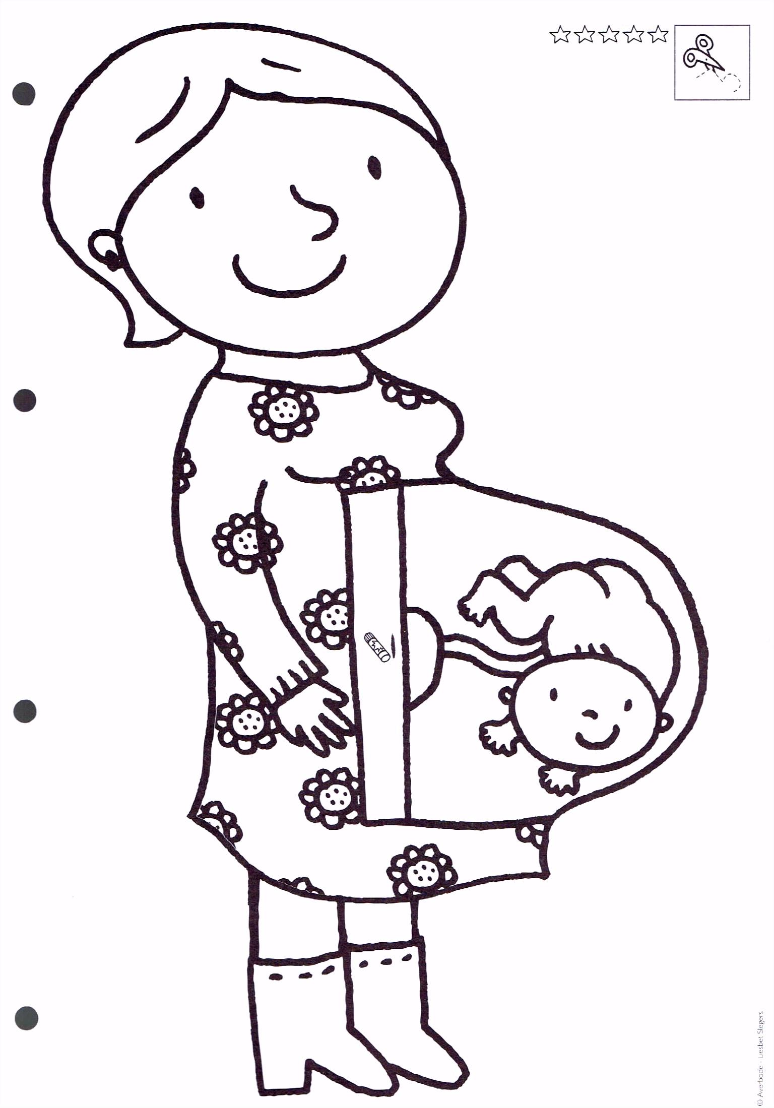 Kleurplaat Baby Geboren AV18