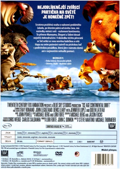 Ice Age 4 Continental drift DVD