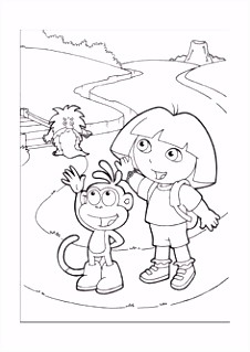 50 best Dora Explore Coloring Pages images on Pinterest