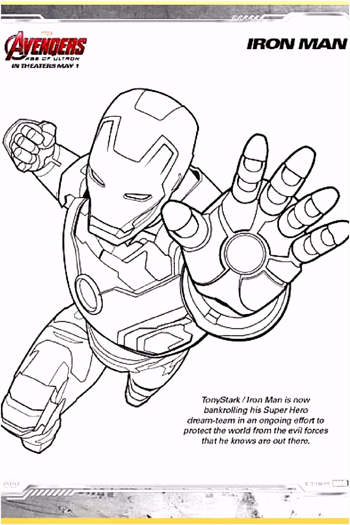 Avengers Iron Man Coloring Pages Ausmalbilder Iron Man Frisch Marvel