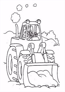 32 beste afbeeldingen van Tractors and construction Coloring pages