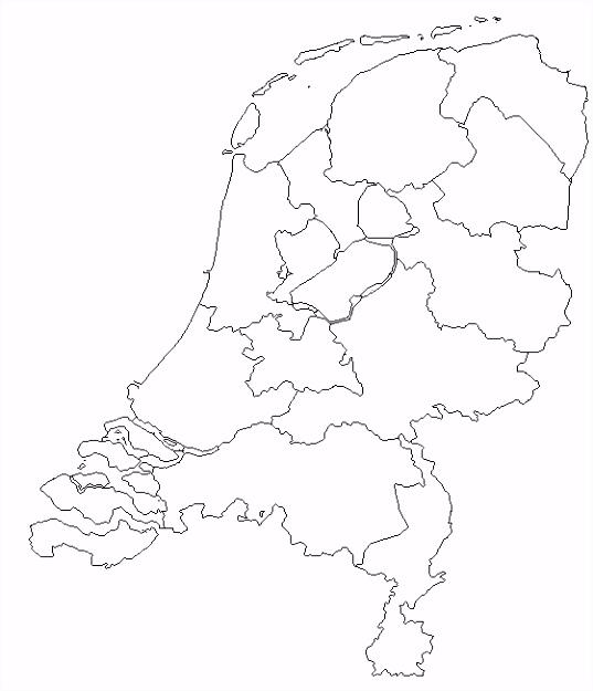 Kaart Van Nederland Als Kleurplaat ARCHIDEV