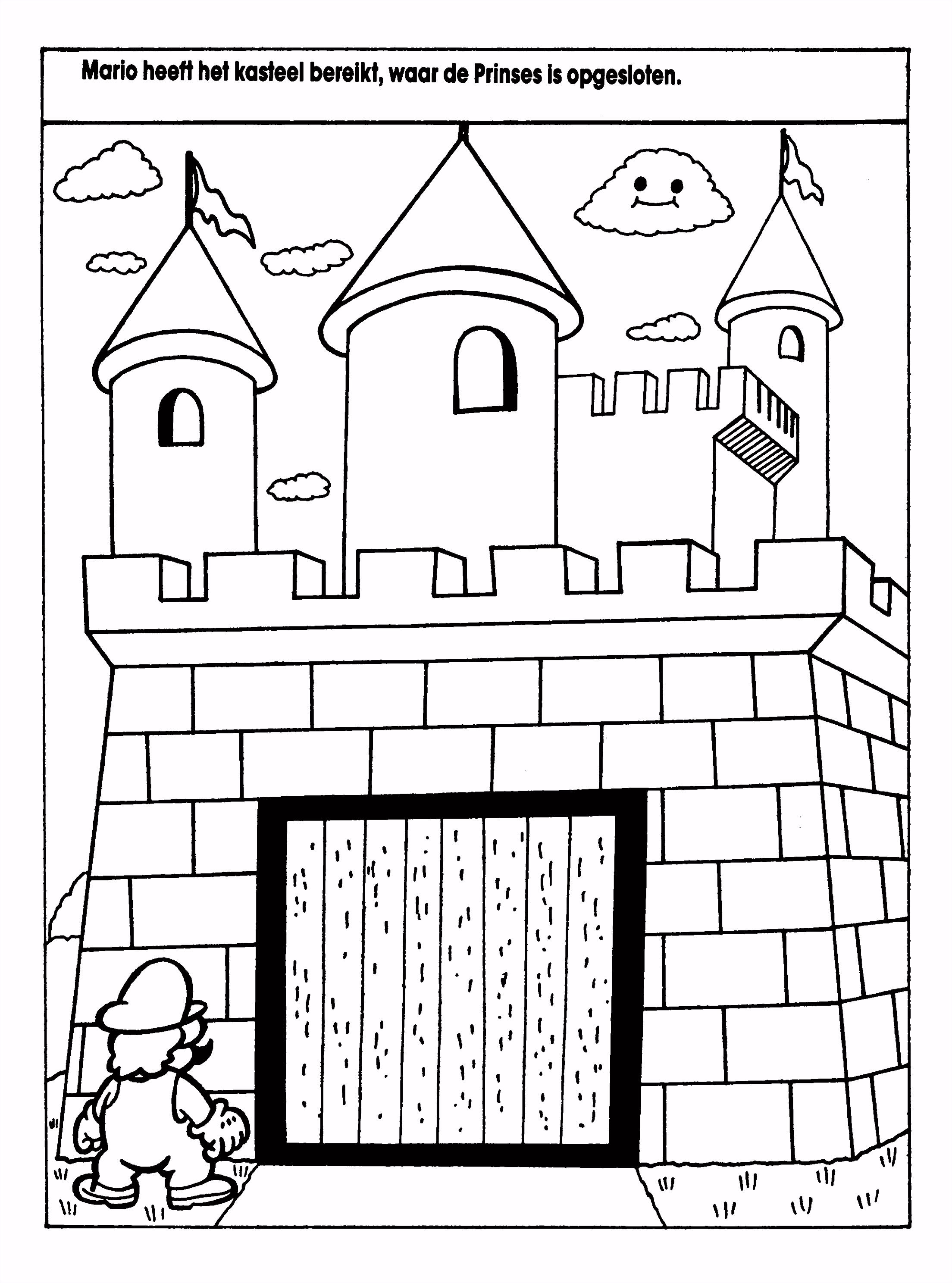 Kasteel Kleurplaten Uniek Kleurplaten Paradijs Kleurplaat Mario