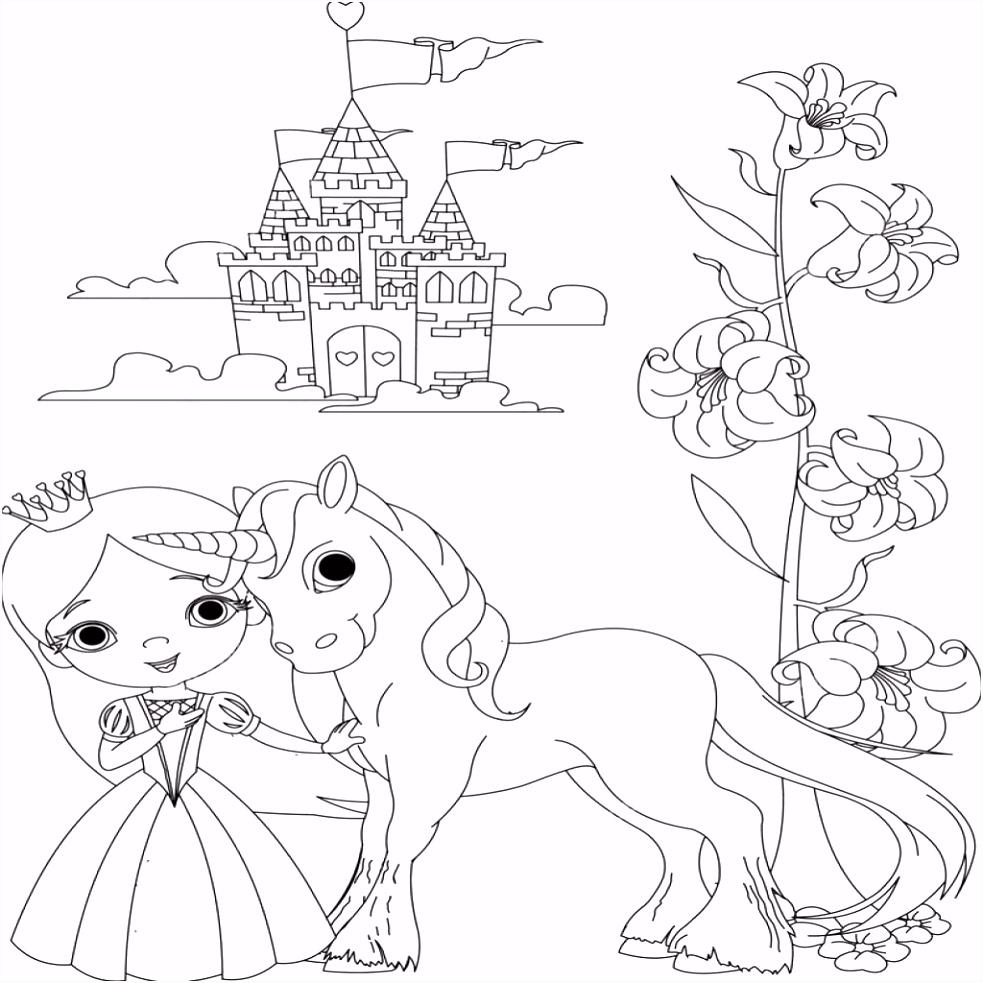 Prinses Kleurplaten Beste Van Kleurplaat Eenhoorn Prinses