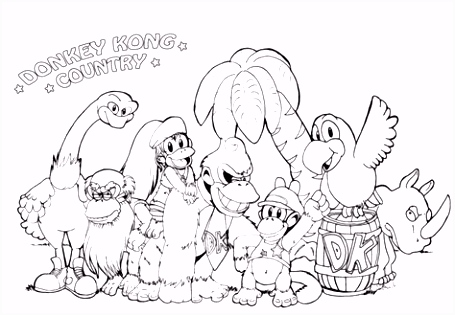 Kleurplaten King Kong Donkey Kong Coloring Page Castrophotos H7pc68ksg4 Rutuhvhdws