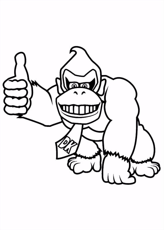 free printable coloring page Donkey Kong