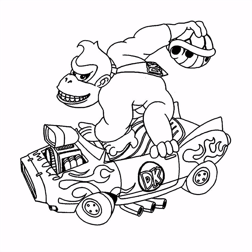 Leuk voor kids – Donkey Kong in zijn auto