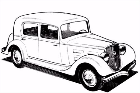 Peugeot 301CR kleurplaat