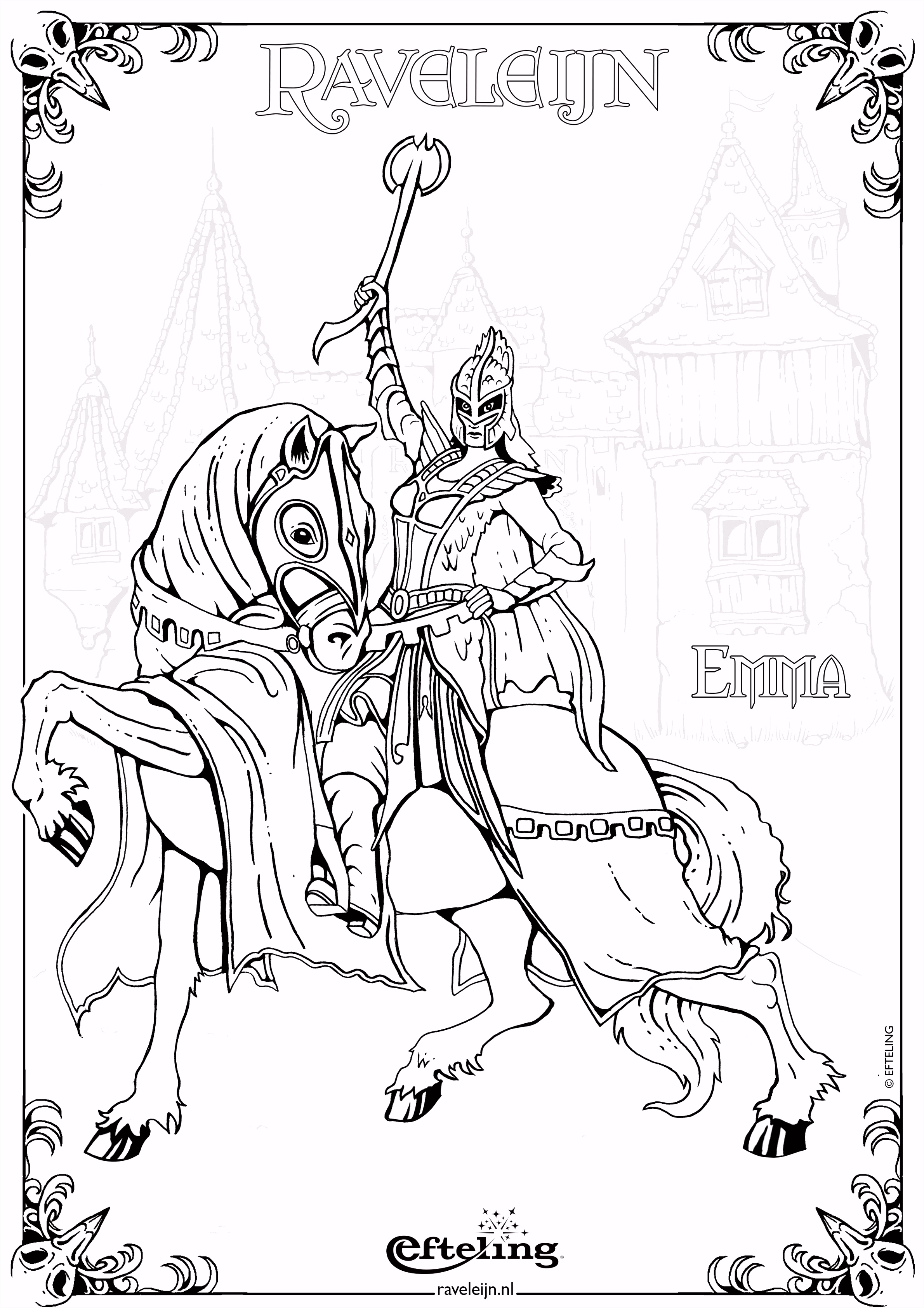 Raveleijn kleurplaat Emma Coloring pages