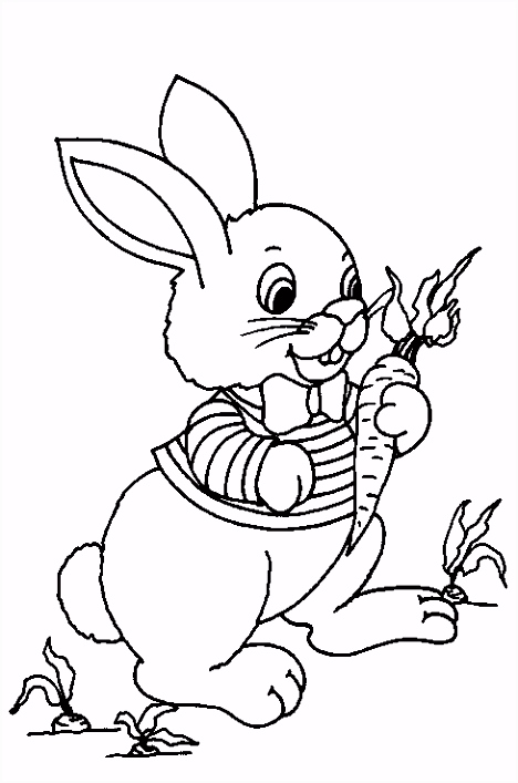 Kleurplaat konijn Coloring pages Pinterest