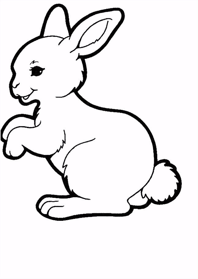kleurplaat konijn ren Pinterest