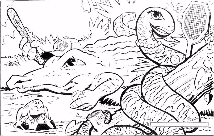 1001 KLEURPLATEN Dieren Krokodil Kleurplaat Krokodil