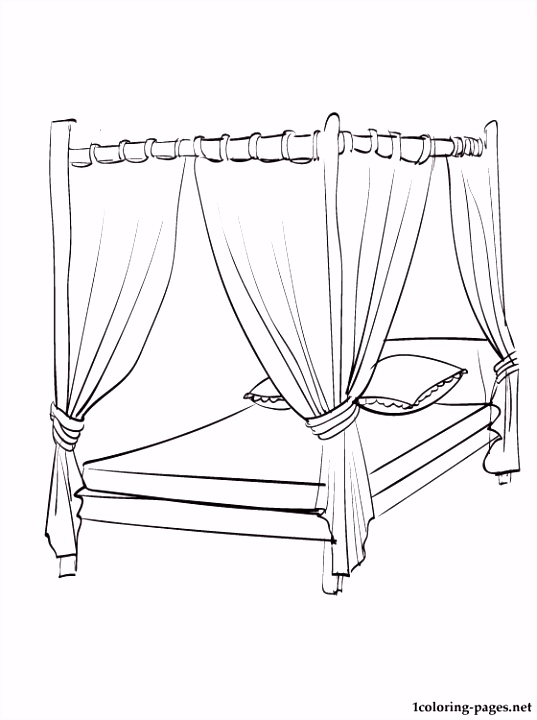 Wedding Canopy Coloring Pages