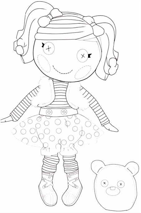 Mu±ecas Lalaloopsy para colorear Coloring Pages