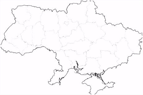 Kaart van Oekra¯ne kleurplaat