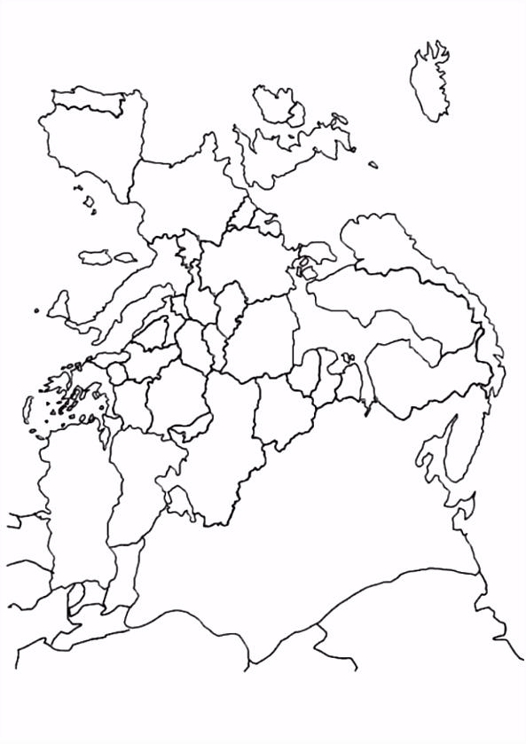 Kleurplaten Europa.Kleurplaten Landkaarten Kleurplaat Landkaarten Landkaart Europa