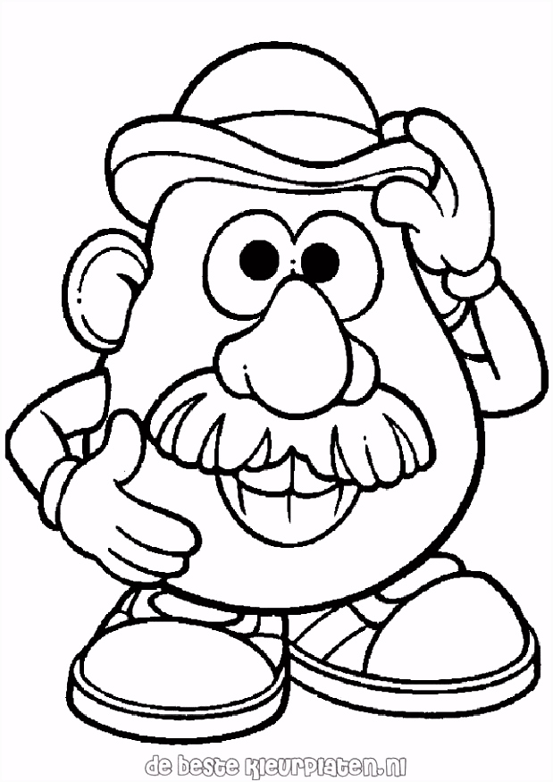 Attractive Mr Potato Head Printable Coloring Pages Collection