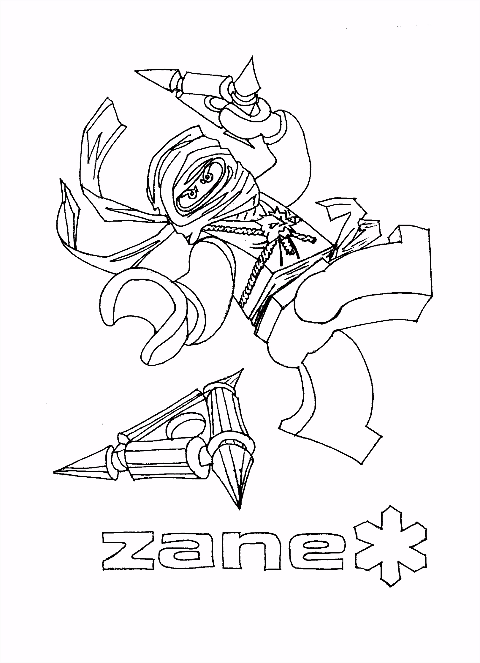 Coloring Pages Ninjago Zane and the rest of the ninja