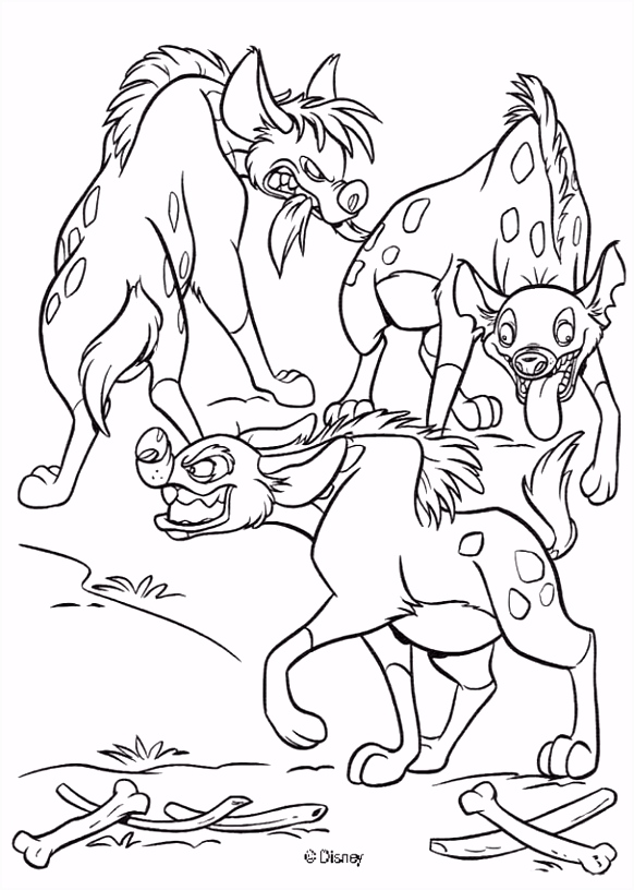 Lion King Hyenas Coloring pages Pinterest