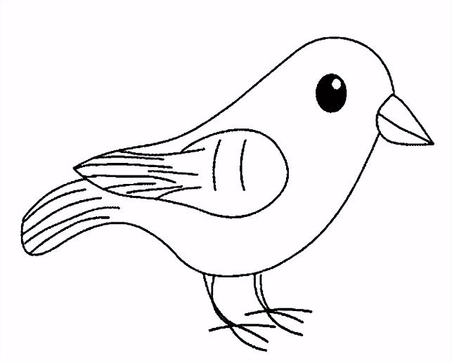 vogel kleurplaat Voelboekje