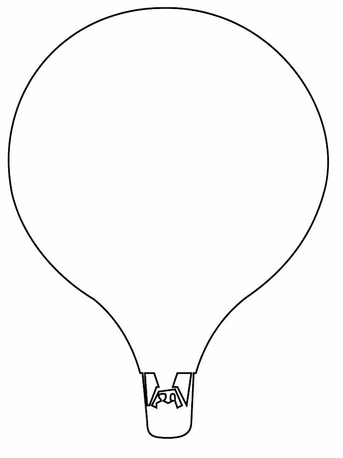 Luchtballon kleurplaat JouwKleurplaten