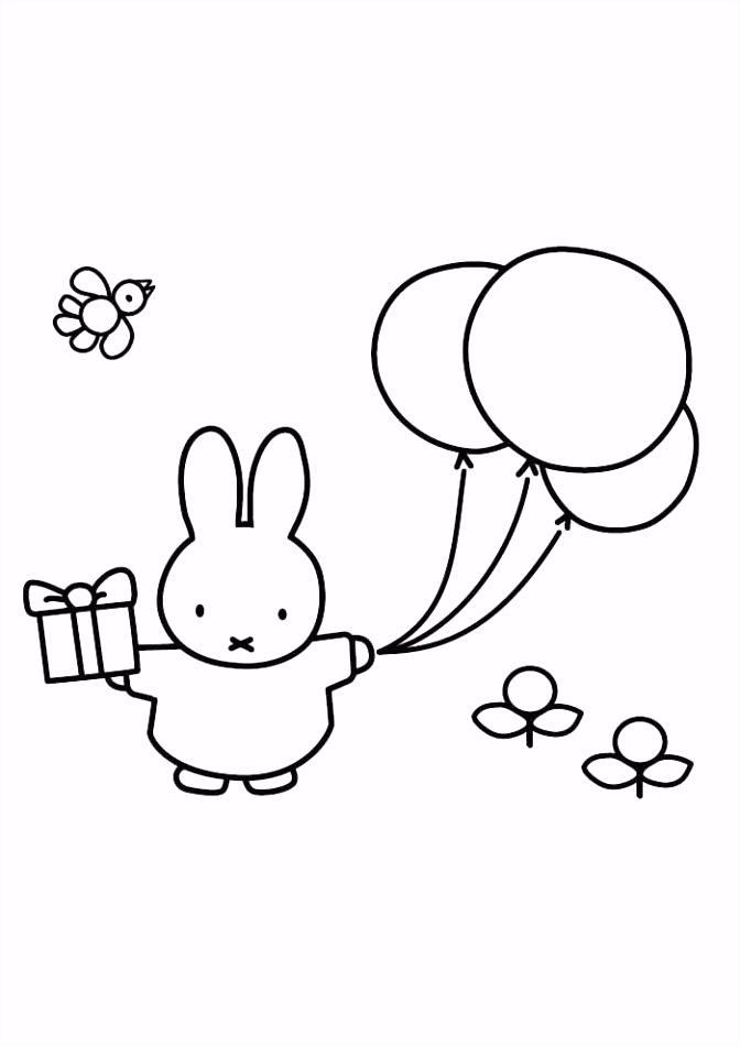 Nijntje mooi ballon Kleurplaten Pinterest