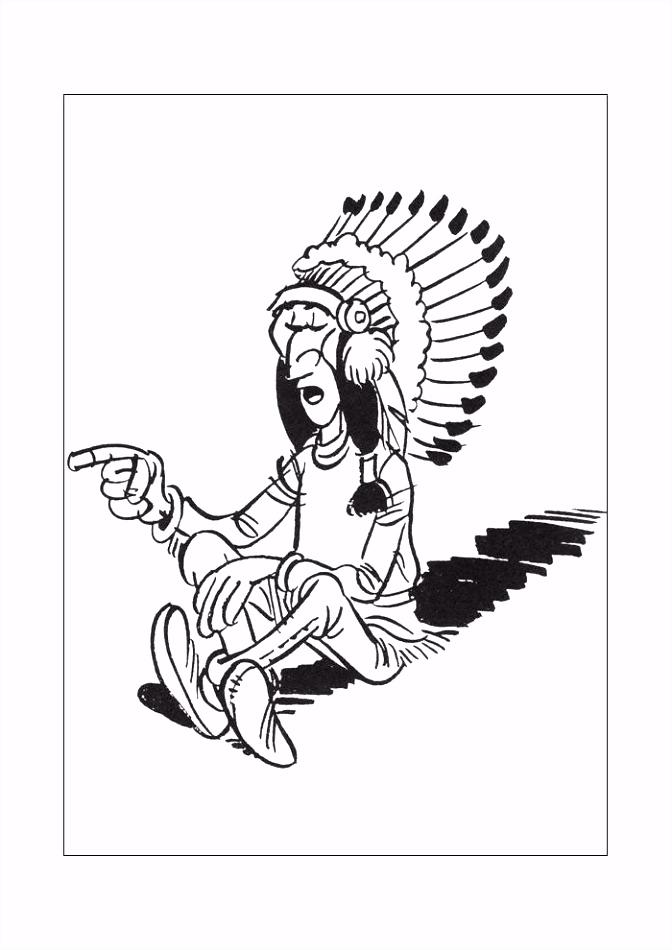 Lucky luke indiaan Lucky Luke Kleurplaten Kleurplaat
