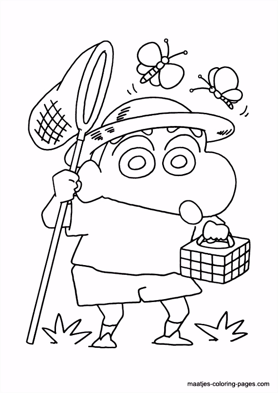 Shin Chan coloring pages