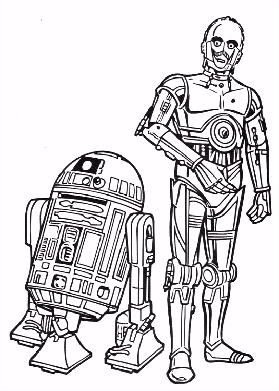 coloring page Star Wars Kids n Fun Color Free