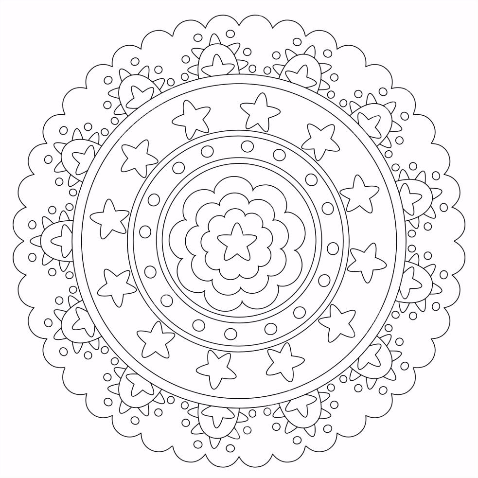 Geometrische Kleurplaten Fris Geometrische Mandala 2 Geo Mandala S