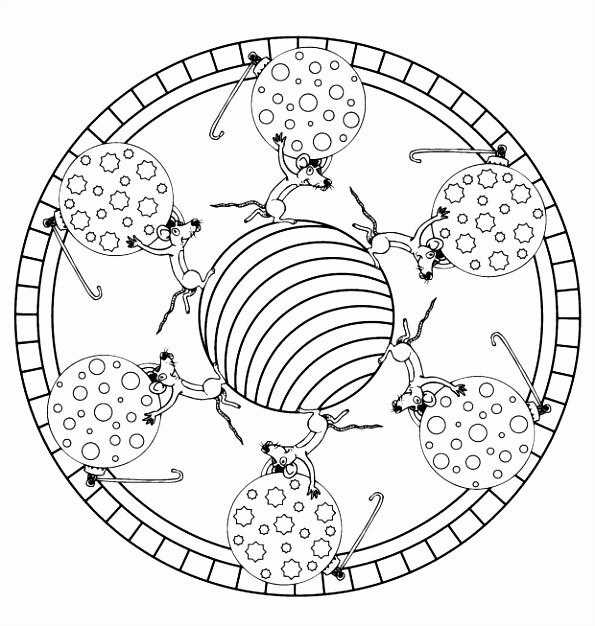 Kleurplaten Mandala Hond ARCHIDEV