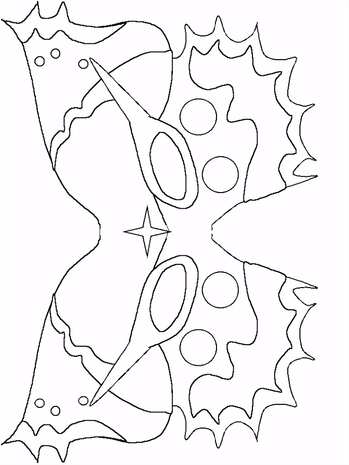 10 kleurplaten masker draak sletemplatex1234