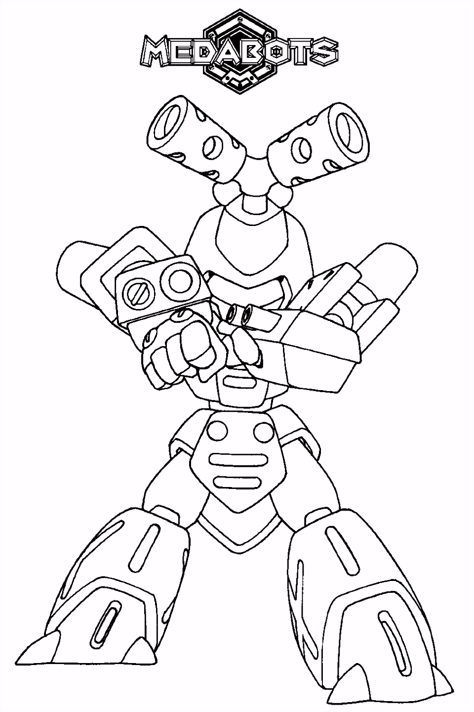 Medabots Coloring Page Tv Series Coloring Page